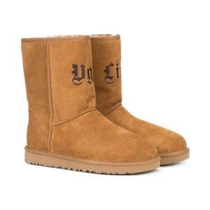 UGG LIFE JEREMY Scott Short Suede Shearling Boots